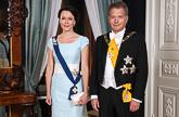 Tasavallan presidentti Sauli Niinistö ja puoliso Jenni Haukio ennen itsenäisyyspäivän juhlavastaanottoa Presidentinlinnassa 6.12.2014.