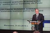 Puolan presidentti Bronisław Komorowski avasi talouseminaarin. Copyright © Tasavallan presidentin kanslia
