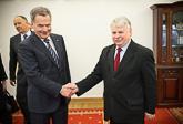 Tapaaminen parlamentin ylähuoneen puhemiehen Bogdan Borusewiczin kanssa . Copyright © Tasavallan presidentin kanslia