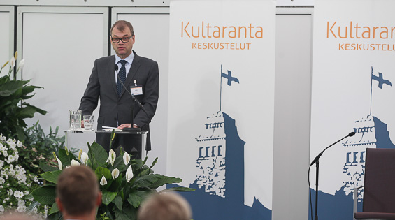 Finland's Prime Minister Juha Sipilä opened the debate about Finland's challenges.