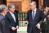 'Turkilla on merkittävä rooli Syyrian kriisin ratkaisun kannalta', presidentti Niinistö sanoi keskustelujen jälkeen. Copyright © Tasavallan presidentin kanslia