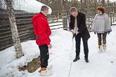 Suopunginheiton harjoittelua Ristimellan porotilalla. Kuva: Matti Porre / Tasavallan presidentin kanslia