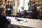 Median tapaaminen keskustelujen jälkeen. Kuva: Katri Makkonen/Tasavallan presidentin kanslia