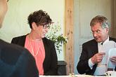 Presidentti Niinistö ja ensimmäinen varapuhemies Veronica Thörnroos. Kuva: Katri Makkonen/Tasavallan presidentin kanslia