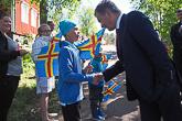 Keskusteluja nuoren polven ahvenanmaalaisten kanssa. Kuva: Katri Makkonen/Tasavallan presidentin kanslia