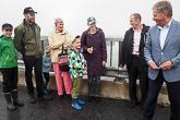 Puumalansalmen sillalla tuli vastaan poika, joka kiitti presidenttiä kirjeestä. Kuva: Katri Makkonen/Tasavallan presidentin kanslia