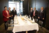 Merikeskuksessa presidentti Niinistö tapasi Kotkan ja Haminan kaupunkien johtoa. Kuva: Matti Porre/Tasavallan presidentin kanslia