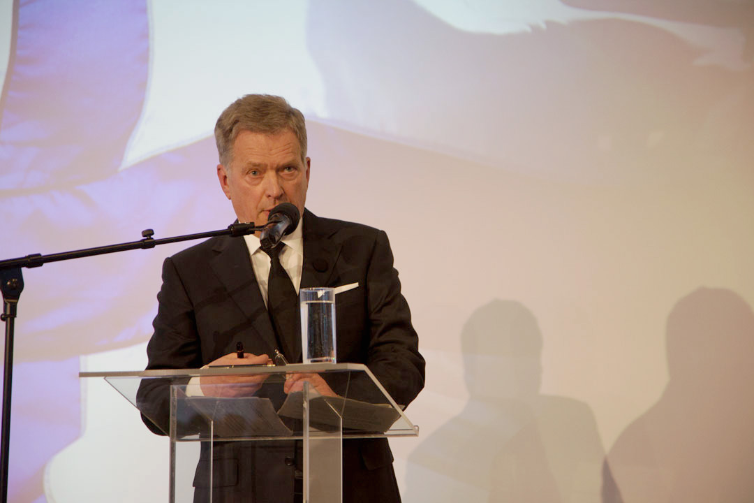 Presidentti Niinistö piti Lennar Meri -konferenssin pääpuheen. Kuva: Katri Makkonen / Tasavallan presidentin kanslia