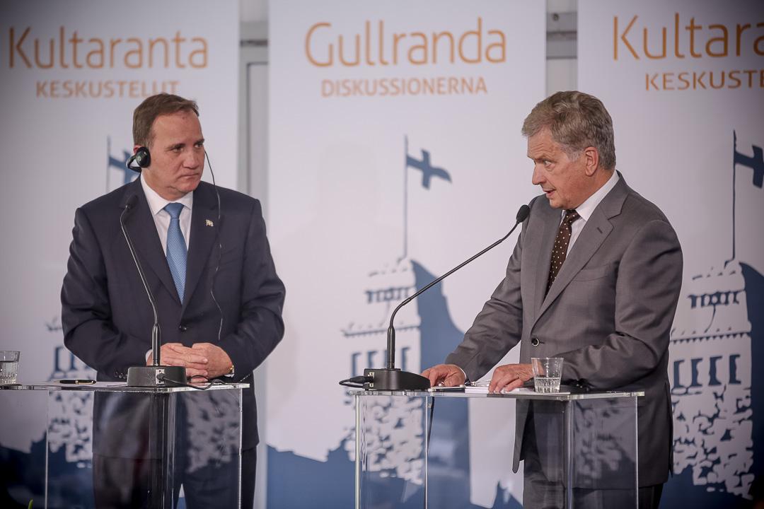 Presidentti Sauli Niinistö ja Ruotsin pääministeri Stefan Löfvenin Kultaranta-keskusteluissa 19. kesäkuuta 2016. Kuva: Juhani Kandell/Tasavallan presidentin kanslia