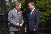 Presidentti Niinistö tapasi Ruotsin pääministerin Stefan Löfvenin Kultarannassa 19. kesäkuuta 2016. Kuva: Juhani Kandell/Tasavallan presidentin kanslia