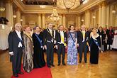 Neljä presidenttiä puolisoineen yhteiskuvassa itsenäisyyspäivän vastaanotolla vuonna 2012. Copyright © Tasavallan presidentin kanslia