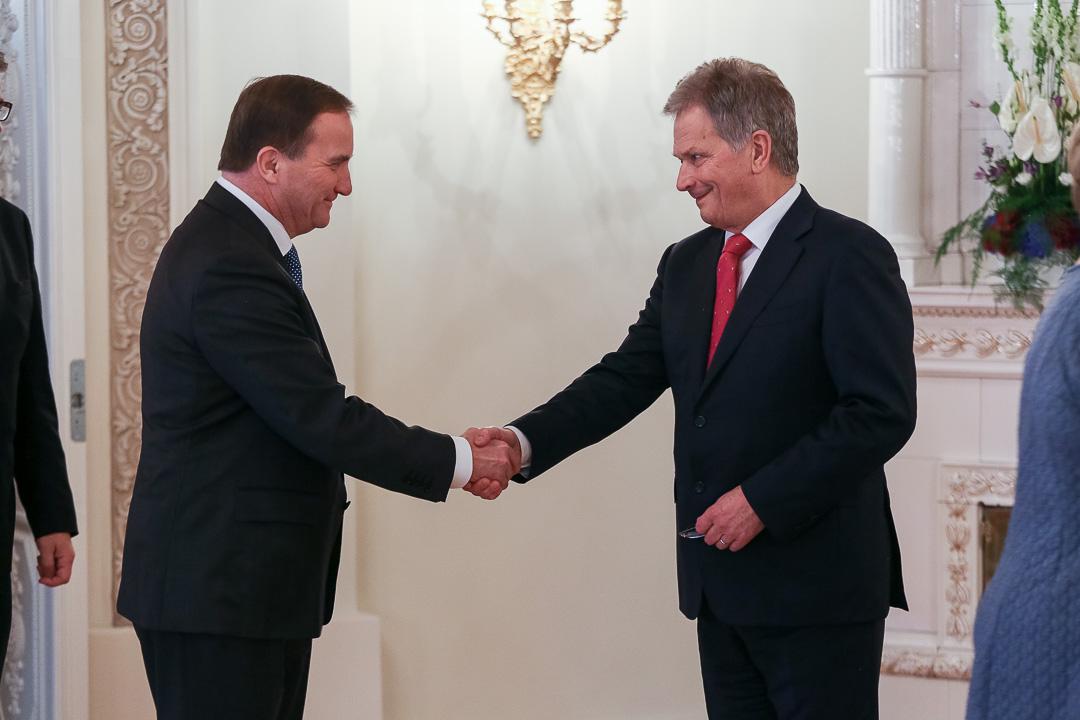 Ruotsin pääministeri Stefan Löfven. Kuva: Matti Porre/Tasavallan presidentin kanslia