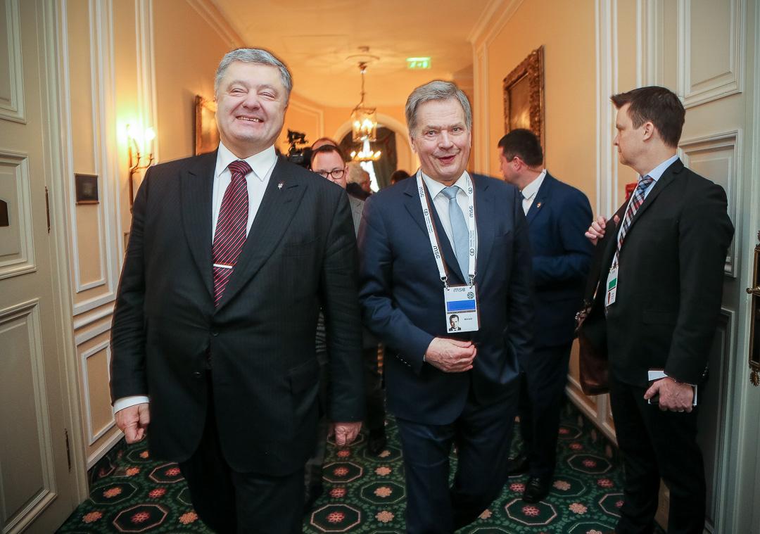 President Sauli Niinistö och Ukrainas president Petro Porosjenko. Foto: Katri Makkonen/Republikens presidents kansli