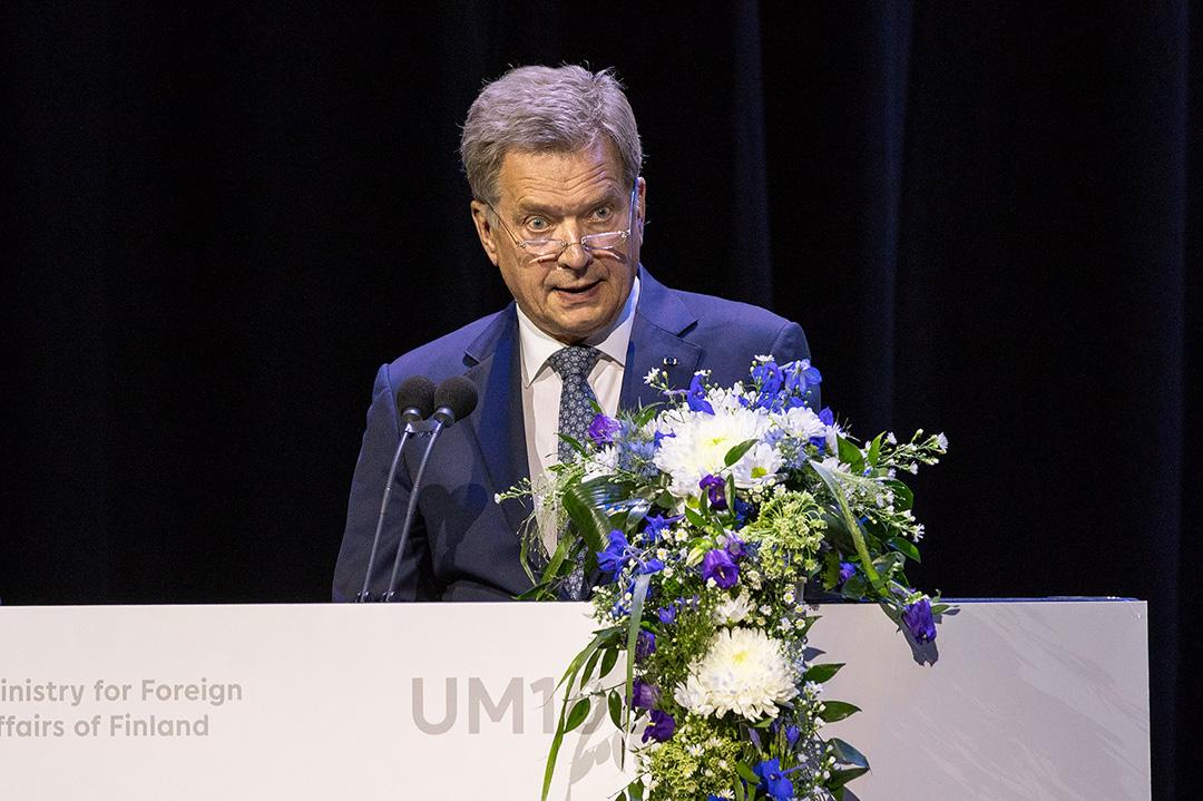 President Niinistö at the centenary celebration. Photo: Marko Huttunen.