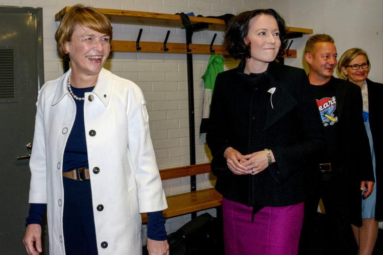 Presidentti Niinistö ja rouva Haukio ottivat vieraat vastaan 17. syyskuuta 2018 Presidentinlinnassa. Kuva: Juhani Kandell/Tasavallan presidentin kanslia
