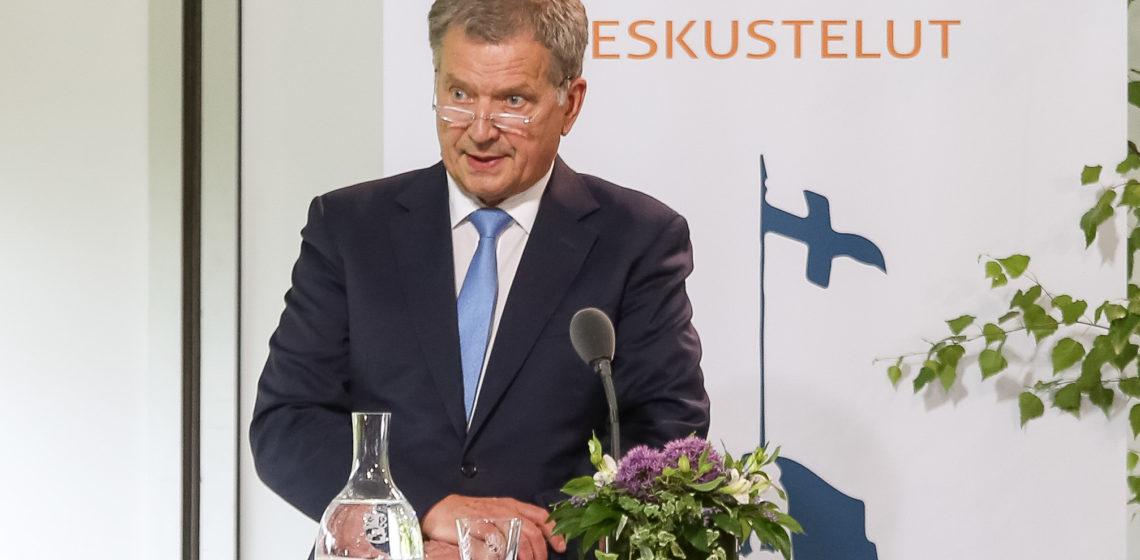 President Niinistö öppnade Gullrandadiskussionerna 2018. Foto: Matti Porre/Republikens presidents kansli
