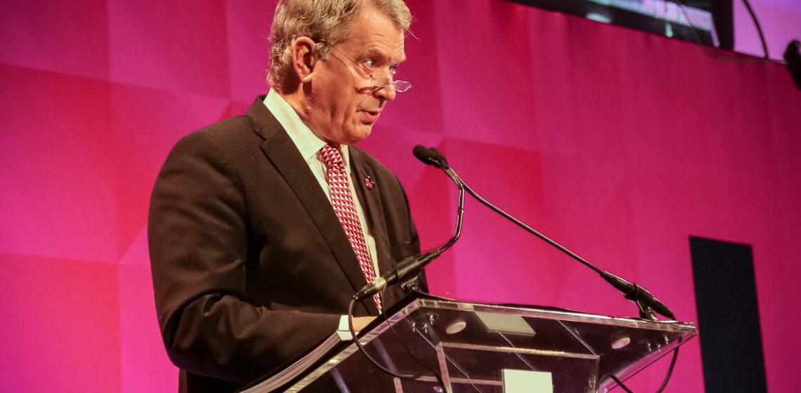 Presidentti Niinistö piti avauspuheenvuoron HeForShe-tilaisuudessa New Yorkissa. Kuva: Katri Makkonen/Tasavallan presidentin kanslia