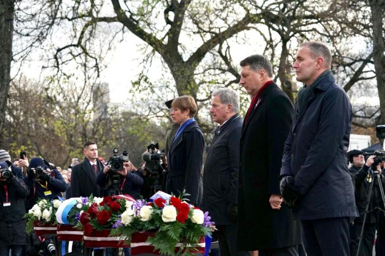 President Niinistö deltog i Lettlands 100-årsjubileum.