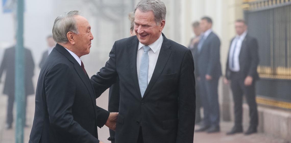 Officielt besök av Kazakstans president Nursultan Nazarbajev den 17. oktober 2018. Foto: Juhani Kandell/Republikens presidents kansli