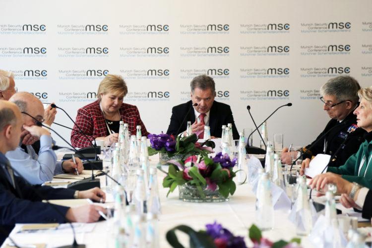 Presidentti Niinistö piti avauspuheenvuoron  arktisen alueen turvallisuutta koskevassa keskustelussa. Kuva: Katri Makkonen/Tasavallan presidentin kanslia