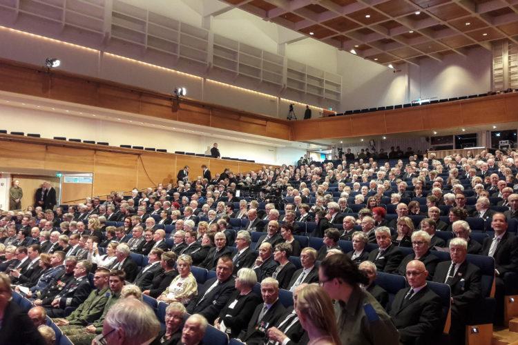 Pääjuhlan yleisöä.  Kuva: Elina Saarela / Kuopion kaupunki