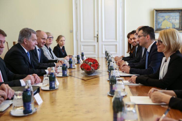 Presidentti Niinistö tapasi Slovenian pääministeri Marjan Šarecin Ljublijanassa. Kuva: Matti Porre /Tasavallan presidentin kanslia