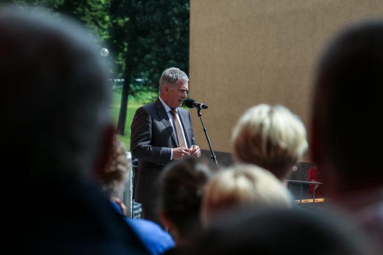 Kansalaistapaamisessa Pälkäneen Kostia-areenalla. Kuva: Matti Porre/Tasavallan presidentin kanslia