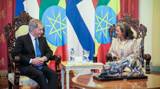 Official visit to Ethiopia on 15-16 October 2019. Photo: Juhani Kandell/Office of the President of the Republic of Finland