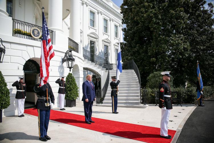 Presidentti Trump vastaanotti presidentti Niinistön Valkoiseen taloon 2. lokakuuta 2019. Kuva: Matti Porre/Tasavallan presidentin kanslia