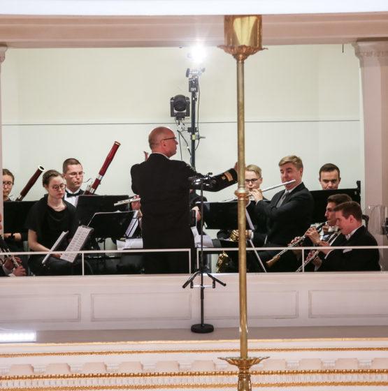 Kaartin soittokunta itsenäisyyspäivän vastaanotolla 2018.