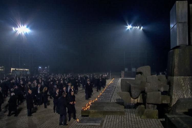 75-årsminnet av befrielsen av Auschwitz. Foto: Auschwitz Memorial webström