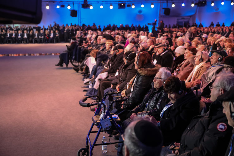 75-årsminnet av befrielsen av Auschwitz. Foto: Jouni Mölsä/Republikens presidents kansli