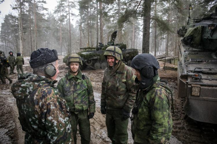 Inspektion av Pansarbrigaden den 4 mars 2020. Foto: Matti Porre/Republikens presidents kansli