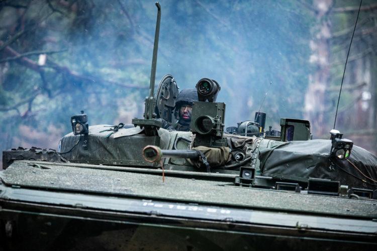 Inspektion av Pansarbrigaden den 4 mars 2020. Foto: Antti Nikkanen/Försvarsmakten