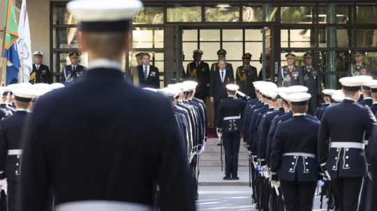 The promotion and appointment of cadets in Santahamina on 28 August 2020. Photo: Jon Norppa/Office of the President of the Republic of Finland