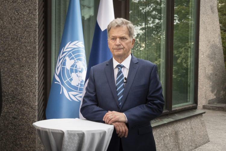 President Niinistö delivered a speech at the high-level meeting of the General Assembly to commemorate the seventy-fifth anniversary of the United Nations on Monday, 21 September.