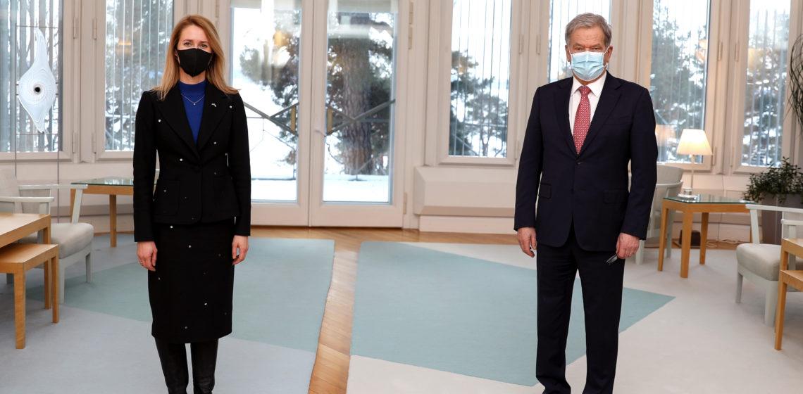President Niinistö träffade Estlands premiärminister Kaja Kallas på Talludden. Foto: Riikka Hietajärvi/Republikens presidents kansli