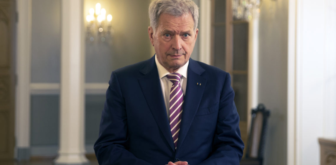 President Niinistö's launch of the Common Responsibility Fundraising Campaign was recorded at the Presidential Palace. Photo: Riikka Hietajärvi/Office of the President of the Republic