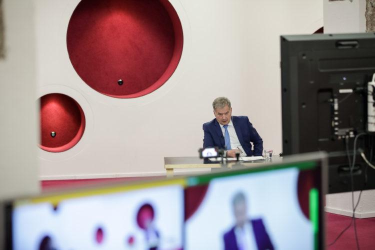 Tasavallan presidentin Kultaranta-keskustelukierroksen viimeinen tilaisuus järjestettiin Aalto-yliopistolla 28.4.2021. Kuva: Matti Porre/Tasavallan presidentin kanslia