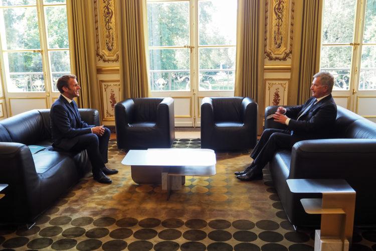 Tasavallan presidentti Sauli Niinistö tapasi Ranskan presidentti Emmanuel Macronin Pariisissa tiistaina 7. syyskuuta 2021. Kuva: Jouni Mölsä/Tasavallan presidentin kanslia