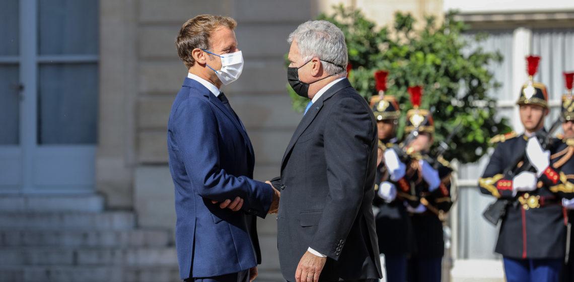 President of the Republic of Finland Sauli Niinistö met with President of France Emmanuel Macron in Paris on Tuesday, 7 September 2021. Photo: Johanna Unha-Kaprali/Embassy of Finland in Paris